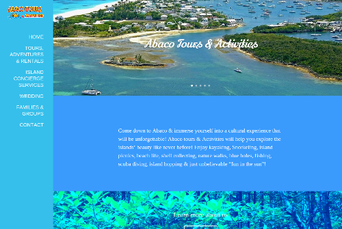 Abaco Tours Web Design