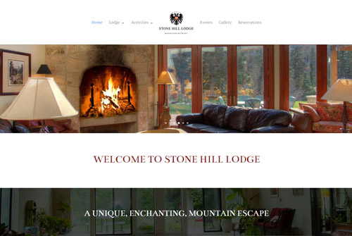 Stone Hill Lodge Web Design