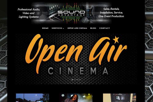 Open Air Cinema Salem Web Design