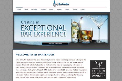 My Bartender Portland Web Design