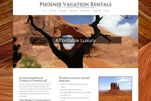 Phoenix Vacation Rentals Web Design